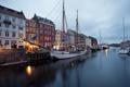Картинка здания, парусник, яхты, причал, Дания, набережная, Denmark