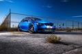 Картинка синий, bmw, бмв, купе, вид спереди, blue, e92