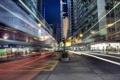 Картинка выдержка, город, Hong Kong, Wan Chai, нити, огни