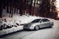 Картинка лес, снег, Audi, ауди, stance, догога