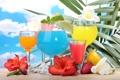 Картинка fresh, tropical, фрукты, море, коктейль, cocktail, drink