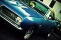 Картинка синий, купе, мускул кар, Barracuda, Plymouth, передок, Muscle car