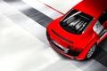 Картинка Audi, Красный, Машина, Двигатель, Номер, V10