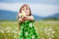 Картинка поле, дети, ромашки, платье, девочка