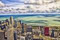 Картинка рисунок, небоскребы, арт, чикаго, Chicago