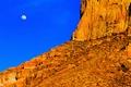 Картинка небо, горы, скалы, луна