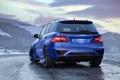 Картинка Mercedes-Benz, Power, Blue, AMG, Mountain, Snow, Tuning