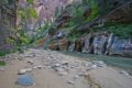 Картинка деревья, горы, река, камни, скалы, каньон, ущелье