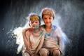 Картинка дети, настроение, краски