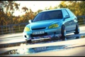 Картинка вода, тюнинг, лужа, Honda, tuning, Civic
