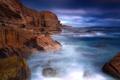 Картинка море, небо, вода, облака, пейзаж, камни, скалы