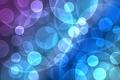 Картинка фиолетовый, круги, синий, разноцветный, боке