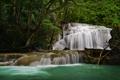 Картинка лес, река, водопад