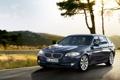 Картинка универсал, BMW, небо, передок, Touring, дерево, 5 серии