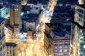 Картинка ночь, огни, нью-йорк, New York City, snow, St. Mark's, Astor Place