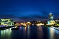 Картинка река, Англия, Лондон, панорама, Великобритания, Темза, ночной город