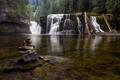 Картинка лес, природа, река, водпад
