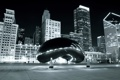 Картинка Black and White, Millennium Park, Chicago, Building, Чикаго