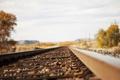Картинка макро, пейзаж, железная дорога