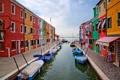 Картинка дома, лодки, Италия, Венеция, канал, остров Бурано