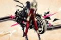 Картинка абстракция, девушки, мотоцикл, оборотни, kisugi ritsuko, sakura hinako, loups=garous