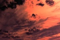 Картинка облака, закат, оранжевый, тучи