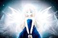 Картинка девушка, крылья, арт, vocaloid, вокалоид, bellsuzu, suzuair
