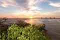 Картинка закат, пейзаж, небо, фото, США, побережье, Флорида
