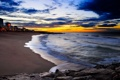 Картинка песок, море, вода, камни, города, океан, берег