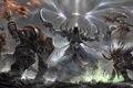 Картинка оружие, арт, монах, битва, Diablo III, demon hunter, Witch Doctor