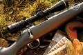 Картинка rifle, scope, gloves, ammunition, Kimber, Cap