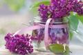 Картинка цветы, весна, банка, сирень, сиреневые