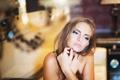 Картинка глаза, взгляд, девушка, губы, photographer, соблазнительная, Julia Sariy