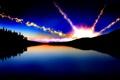 Картинка лес, звезды, горизонт, небо, силуэт, ночь, месяц