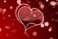 Картинка красный, блики, сердце