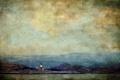 Картинка горизонт, небо, камень, горы, маяк, озеро