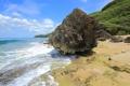 Картинка море, волны, небо, облака, камни, берег, Puerto Rico