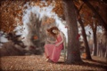 Картинка осень, девушка, настроение