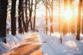 Картинка снег, город, фонарь, Россия, Russia, Калуга, Kaluga