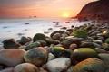Картинка море, солнце, камни