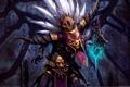 Картинка магия, маска, diablo 3, шаман