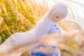 Картинка трава, ветер, игрушка, кукла, блондинка