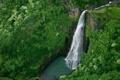Картинка лес, река, водопад, Hawaii, Kauai, Hanapepe valley, Manawaiopuna falls