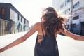 Картинка лето, девушка, улица, волосы