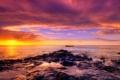 Картинка закат, камни, океан, африка