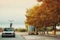 Картинка осень, велосипед, volkswagen, bike, rabbit, фольксваген, low