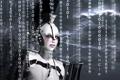 Картинка рендеринг, робот, числа