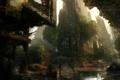 Картинка деревья, город, апокалипсис, болото, руины, crysis 3