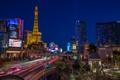 Картинка Невада, дома, ночь, башня, Лас-Вегас, США, огни