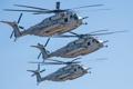Картинка транспортный, Sikorsky, военный, тяжёлый, Sea Stallion, полёт, CH-53E
